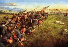 """The Last Full Measure: 1st Minnesota Regiment at Gettysburg-Keith Rocco.  What regiment is this?"""" Hancock demanded. """"First Minnesota,"""" replied Colvill. """"Charge those lines,"""" Hancock ordered, pointing in the direction of the Peach Orchard and Plum Run.   Hancock and Colvill looked at each other, Hancock knowing what he had ordered and Colvill realizing both the necessity and the grim implications of it. The charge ended with 215 casualties & 47 survivors led by a sergeant."""
