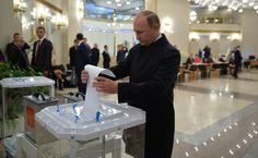 Владимир Путин проголосовал на выборах депутатов Государственной Думы   Президент голосовал на избирательном участке номер 2151, расположенном в здании Российской академии наук.   18 сентября 2016 года 12:50  http://www.kremlin.ru/events/president/news/52908