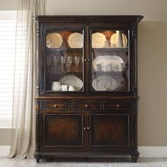 """Hooker Furniture Eastridge 65"""""""" China Cabinet (3 840 AUD) ❤ liked on Polyvore featuring home, furniture, storage & shelves, display units, cherry, door furniture, outdoor furniture, drawer furniture, outdoors furniture and outside furniture"""