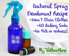 I'm using this homemade spray deodorant recipe! It uses magnesium oil and essential oils (I also add witch hazel) for an effective and nourishing deodorant without harmful chemicals. Deodorant Recipes, Diy Deodorant, Homemade Natural Deodorant, Wellness Mama, Perfume, Homemade Beauty Products, Natural Products, Body Products, Lush Products