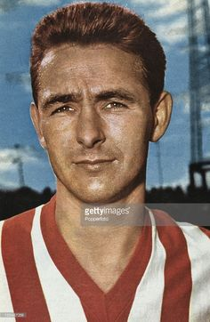 English footballer Brian Clough (1935 - 2004) during his time as a striker for Sunderland AFC, 1961.