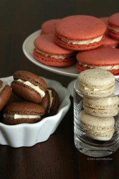 Vanilla Bean Macarons with Whipped Vanilla Bean White Chocolate Ganache from Love and Confections