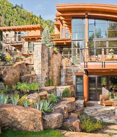 A sophisticated Vail retreat with unique roofs blends industrial and organic elements that feel right at & A sophisticated Vail retreat with unique roofs blends industrial ... memphite.com