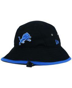 55f53245eb0 New Era Detroit Lions Training Bucket Hat Hat Men