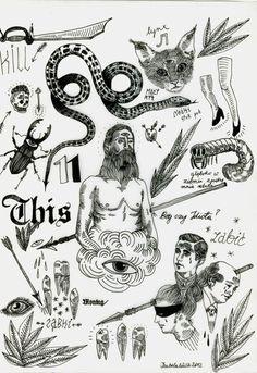 Traditiional Tattoos  Flashes | KYSA #ink #tattooflash #tattoo