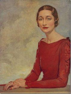 Portrait of Wallis Simpson by M. Baynon Copeland, 1937 (x)