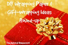 DIY Wrapping Paper & Gift-Wrapping Ideas via The Natural Homeschool