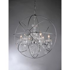 @Overstock - Saturn's Ring Chandelier - Add some elegance and unique style to your home with the Saturn's Ring chandelier. This dynamic lighting element features generous crystals to catch the light for and impressive display perfect for your dining room or entryway.  http://www.overstock.com/Home-Garden/Saturns-Ring-Chandelier/9231702/product.html?CID=214117 $334.99