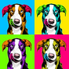 Fiverr freelancer will provide Photoshop Editing services and make pop art andy warhol of your pet within 24 hr including # of images within 1 day Pop Art Posters, Animal Posters, Warhol Paintings, Pop Art For Kids, Andy Warhol Pop Art, Pop Art Colors, Vintage Pop Art, Atelier D Art, Pop Art Portraits