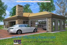 Overall Dimensions- x mBathrooms- 3 Car GarageArea- Square meters House Plans Mansion, 4 Bedroom House Plans, My House Plans, Exterior Paint Colors, Paint Colours, Beautiful House Plans, Beautiful Homes, Dream Home Design, House Design