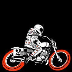 Illustratuion CHVRCH - Churc of chopper #illustration #design #motorcycles #motos | caferacerpasion.com