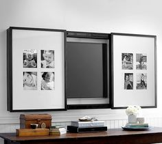Gallery Frame TV Cover | Pottery Barn  like the concept--not 8 photos...