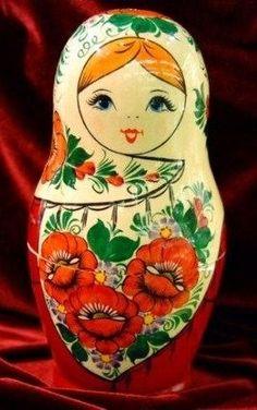 Matryoshka: all our Russian Nesting dolls - Russian treasures Russian Babushka, Russian Folk Art, Matryoshka Doll, Kokeshi Dolls, Art Populaire Russe, Russian Culture, Wooden Dolls, Doll Face, Illustrations