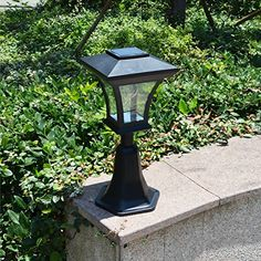 Ultra Bright 6-LEDs Solar Fence Lamp Post Perfect accent for deck garden and walk way especially made for your electric gate mason stone.These bright led lights emits a gentle white light onto your f...