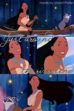 "Day 4: What is your favorite song (sung by a princess)? Pocahontas ""Just Around the Riverbend"" The scene is beautifully done with the visualization of choosing a path aka she chooses her own future even if it is going to be difficult. And she asks ""do you still wait for me dreamgiver?"" I feel I can relate to that."