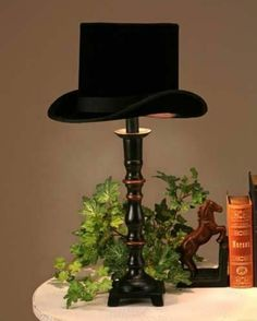 Second Hand, Still Grand: Lovely Things: Luscious Lampshades – Light Ideas Luminaire Original, Luminaire Vintage, Hat Display, Regal Design, Hat Stands, Diy Hat, Coaster Furniture, Lamp Shades, Home Lighting