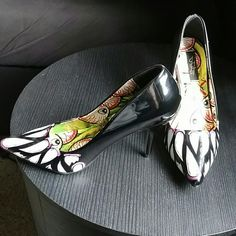 Timmy Chew heels These beauties are anything but boring.  The perfect decollete for the alt girl who wants to stand out.  Worn once, soles show barely any use.  Size US 10, EU 41 I'm always open to negotiation, LOWBALLERS WILL BE BLOCKED. Be respectful, don't waste mine nor your time. Iron Fist Shoes Heels