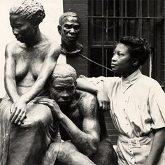 Augusta Fells Savage (b.1892- d.1962) was an African-American sculptor associated w/ the Harlem Renaissance. Also a teacher.  Her Studio was important to careers of a rising generation of artists who'd become nationally known. She worked for equal rights for African Americans in the arts. http://www.biography.com/people/augusta-savage-40495