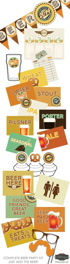 Beer tasting party!  Everything you need.  Just add friends, BBQ, and the brews.
