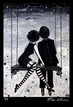 The Artwork of Modern Tarot - The Phantomwise Tarot. Sold out. Lovers.