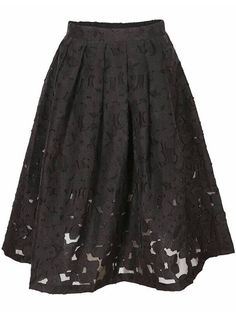 Lace Flare Black Skirt 26.33