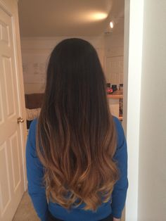 Ombré hair on long brunette hair, Sombre, brunette, dark hair Sombre, ombre in dark hair