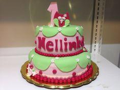 Růžovo zelený dort se sovičkou a číslicí. Birthday Cake, Desserts, Food, Tailgate Desserts, Birthday Cakes, Deserts, Essen, Dessert, Yemek