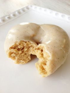 Skinny Vanilla Bean Donuts — easy, delicious. The glaze is to die for, and the doughnuts are light and not too sweet!