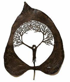 Cut Leaf Art by Lorenzo Duran