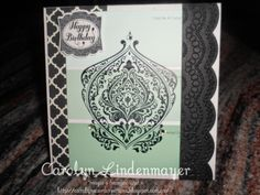 Carolyn's Card Creations: Beautifully Baroque Green Paint Chip Card