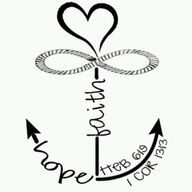 Faith Hope Love Anchor Infinity On Cross Heart Tattoo Pretty Tattoos, Love Tattoos, New Tattoos, Body Art Tattoos, Small Tattoos, Family Tattoos, 1 Tattoo, Piercing Tattoo, Get A Tattoo