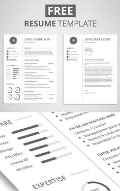 free resume cover letter templates Free Minimalistic CV/Resume Templates with Cover Letter Template . Cover Letter Template, Free Cover Letter, Cover Letter For Resume, Letter Templates, Cover Letters, Job Resume, Resume Tips, Resume Examples, Resume Ideas