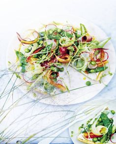 Tarte à la ricotta et aux légumes nouveaux pour 4 personnes - Recettes Elle à Table