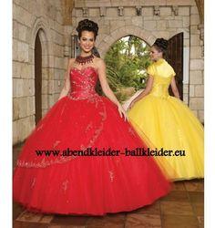 A Linie Abendkleid Ballkleid Online in Rot