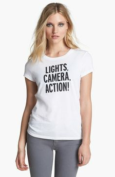 kate spade new york 'lights, camera, action!' graphic tee