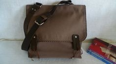 Brown Messenger Bag by ottobags on Etsy, $55.00