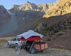 Jarrod found a great spot camp spot while Tventuring with his DIY No Weld Rack outfitted utility trailer Utility Trailer, Roof Top Tent, Grand Canyon, Compact, Camping, Diy, Travel, Campsite, Viajes