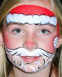 Santa Christmas face paint idea.