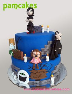 Pastel de Hotel Transylvania Hotel Transylvania Personajes, Hotel Transylvania Birthday, Pasteles Halloween, Birthday Parties, Birthday Cake, Monsters Inc, Party, Desserts, Food