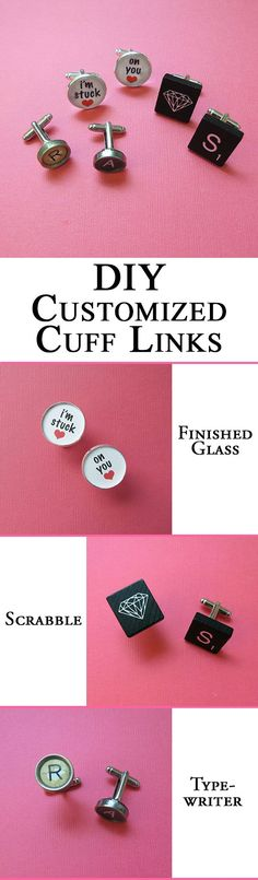 Gift for him: Customized cuff links! #style #DIY