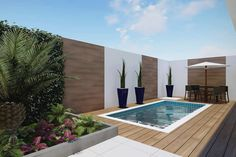 109 trending small pool designs for your backyard 32 Small Inground Pool, Small Backyard Pools, Backyard Pool Designs, Small Pools, Backyard Garden Design, Swimming Pools Backyard, Swimming Pool Designs, Small Patio, Patio Design