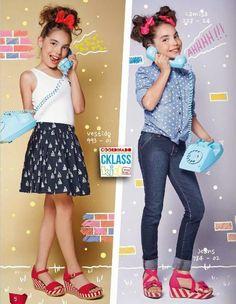 Ropa de moda para niñas de Cklass Kids PV 2015