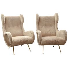 """DREAM CHAIRS !! Mid-Century Italian High Back Chair in the Style of Marco Zanuso """"Senior Chair"""" 