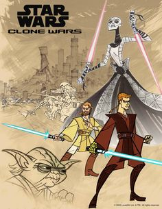 A poster from the animated series Star Wars: Clone Wars.