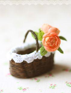 English Roses and Basket