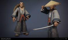 ArtStation - Stylized Samurai, Alex Lusth