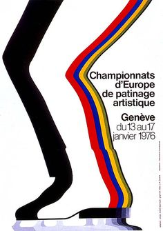 Sports poster designed by J.F. Calame 1976.