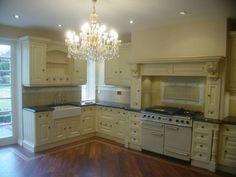 Clive Christian Victorian kitchen in classic cream