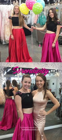 Two Piece Prom Dresses, 2018 Prom Dresses For Teens, Long Prom Dresses For Girls, Princess Prom Dresses Off-the-shoulder, Satin Prom Dresses Beading Senior Prom Dresses, Prom Girl Dresses, Princess Prom Dresses, Prom Dresses For Teens, Unique Prom Dresses, Prom Dresses 2018, Ball Dresses, Evening Dresses, Party Dresses