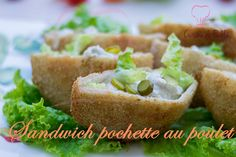 Sandwich pochette au poulet Sandwiches, Ramadan Recipes, Brunch, Arabic Food, Iftar, Bagel, Finger Foods, Avocado Toast, Buffet